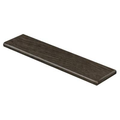 Choice Oak/Black Willow 47 in. L x 12-1/8 in. W x 1-11/16 in. T Vinyl Overlay Right Return for Stairs 1 in. T