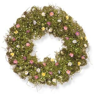 19 in. Flower Wreath