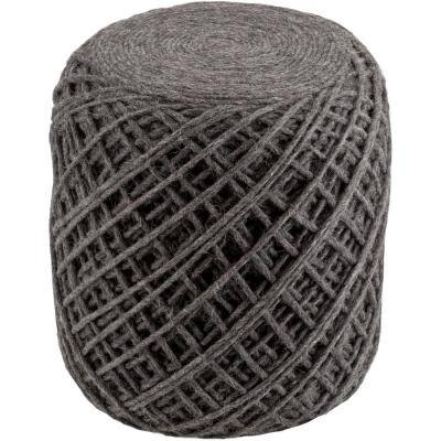 Nomiki Charcoal Accent Pouf