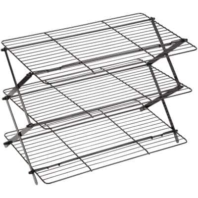 3-Tier Non-Stick Black Collapsible Cooling Rack