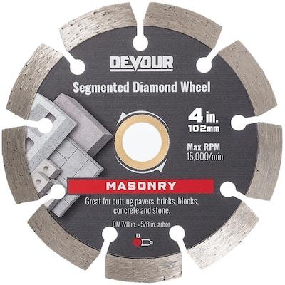 4 in. Masonry Metal Bond Segmented Rim Diamond Wheel