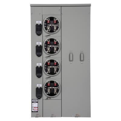 Uni-PAK 4-Gang 400 Amp Ring Style Multi-Family Metering