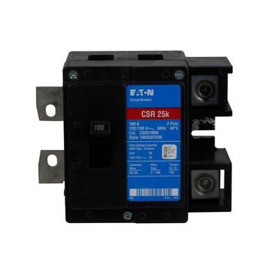 CSR 100 Amp 2-Pole 25 kAIC Main Circuit Breaker