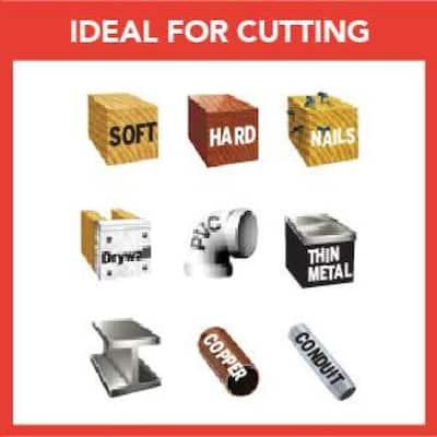 Universal Dual Interface Bi Metal Oscillating Tool Blade for Wood and Metal (3-Pack)