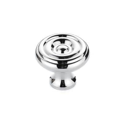 1-1/4 in. (32 mm) Chrome Traditional Brass Cabinet Knob