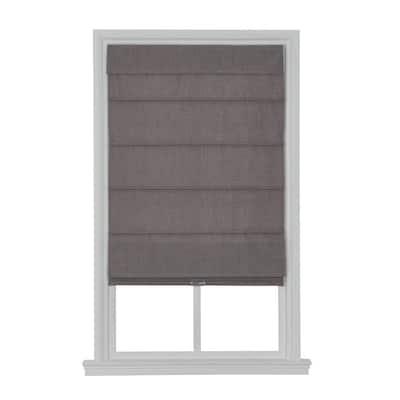 Cordless Blackout Fabric Roman Shade 27X64 Light Gray
