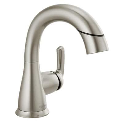 Broadmoor Single Hole Single-Handle Bathroom Faucet with Pull-Down Sprayer in SpotShield Brushed Nickel