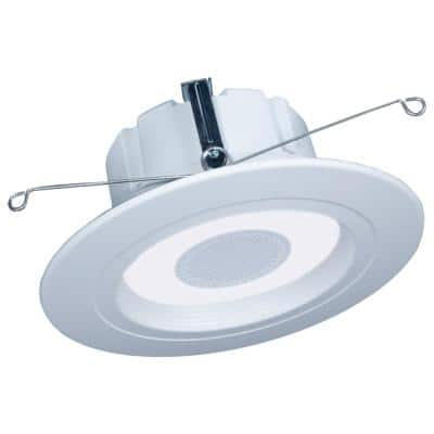 HALO Home 5/6 in. Smart Integrated LED Tunable White LED Retrofit Recessed Light Downlight with Bluetooth Speaker