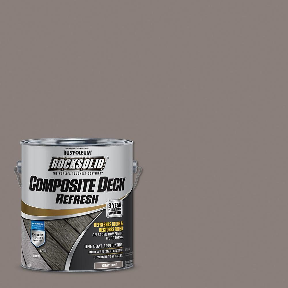 Rust-Oleum RockSolid 1 Gal. Gray Composite Deck Coating (2-Pack)