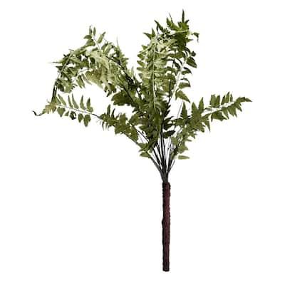 60 in. Wood Fern Bush Green Faux Botanical