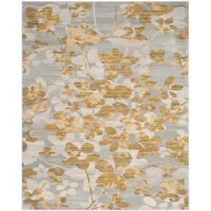 Evoke Gray/Gold 10 ft. x 14 ft. Area Rug