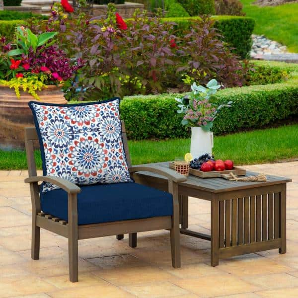 Arden Selections 24 X 24 Clark 2 Piece Deep Seating Outdoor Lounge Chair Cushion Th1f297a D9z1 The Home Depot