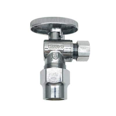 1/2 in. CPVC Inlet x 3/8 in. O.D. Compression Outlet Quarter-Turn Angle Valve