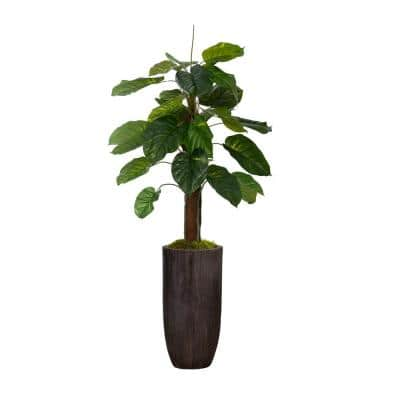 62.25 in. Real Touch Greenery in Resin Planter