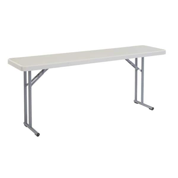 National Public Seating 72 In Grey Plastic Smooth Surface Folding Seminar Table Bt 1872 The Home Depot