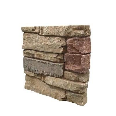 Stacked Stone Desert Sunrise 12 in. x 12 in. Faux Stone Siding Sample