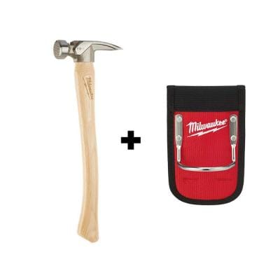 19 oz. Wood Milled Face Hickory Framing Hammer with Hammer Loop