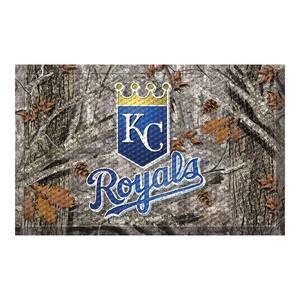 MLB - Kansas City Royals 19 in. x 30 in. Outdoor Camo Scraper Mat Door Mat