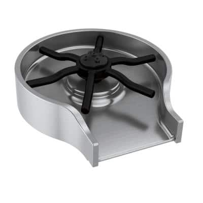 4 in. Metal Glass Rinser in Arctic Stainless