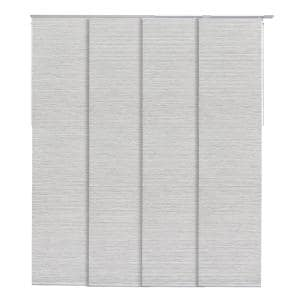 Marble Natural Woven Adjustable Sliding Window Panel Track with 23 in. Slates Up to 86 in. W x 96 in. L