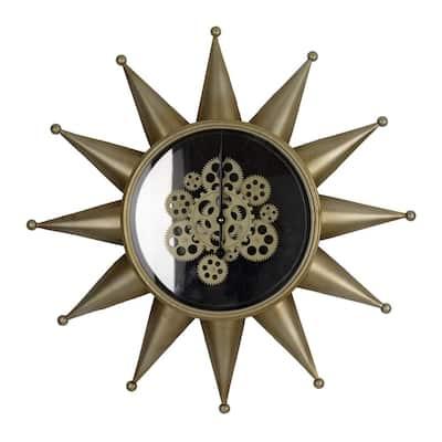 Ignacio Star Wall Clock - Antique Brass