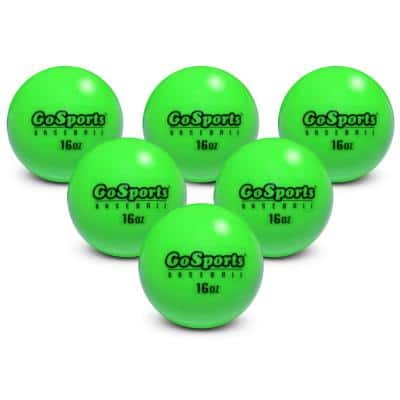 2.8 in. 16 oz. Weighted Hitting and Pitching Training Baseballs (6-Pack)