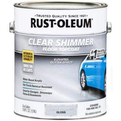1 gal. Clear Shimmer Concrete and Floor Top Coat (2-Pack)