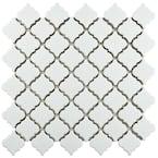 Hudson Tangier Crystalline White 12 in. x 12 in. Porcelain Mosaic Tile (10.96 sq. ft. / Case)
