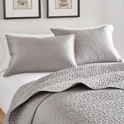 Arbor Cotton Twin Coverlet Set in Grey