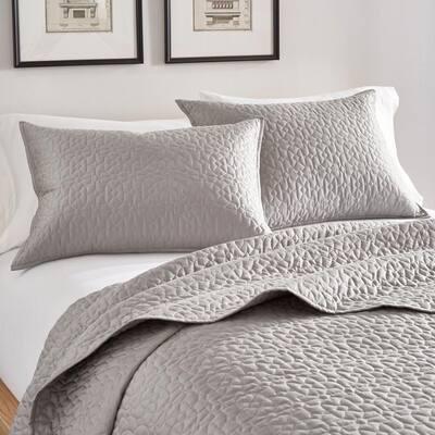 Arbor Cotton Queen Coverlet Set in Grey