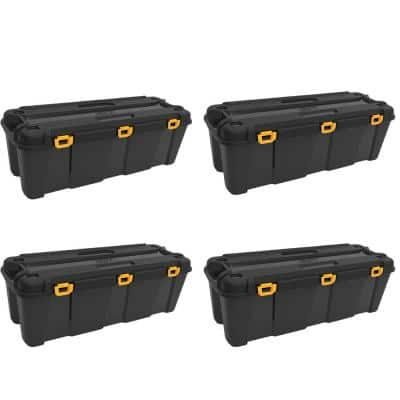 Bunker 34.34 Gal. Heavy-Duty Garage Storage Container Tub (4-Pack)