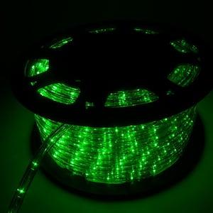 Outdoor 150 ft. 110-Volt Plug-In Green Color Changing Light LED Rope Light