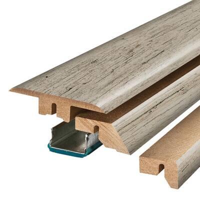 Dockside Grey Oak 3/4 in. Thick x 2-1/8 in. Wide x 78-3/4 in. Length Laminate 4-in-1 Molding