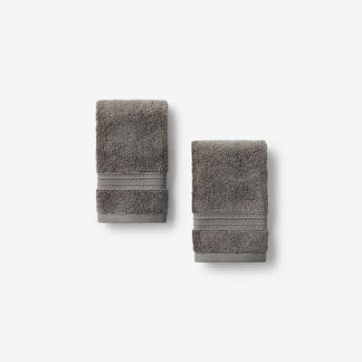 Cotton TENCEL Lyocell Taupe Solid Wash Cloth (Set of 2)