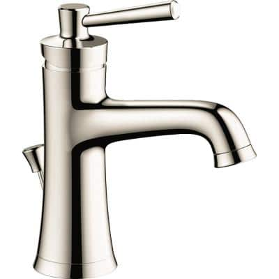 Joleena Single Hole Single-Handle Bathroom Faucet with Drain Assembly in Polished Nickel