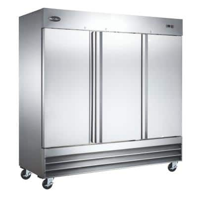 72 cu.ft. Frost Free Commercial Upright Freezer in Stainless Steel