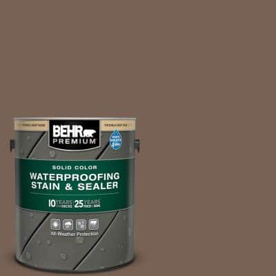 1 gal. #SC-141 Tugboat Solid Color Waterproofing Exterior Wood Stain and Sealer