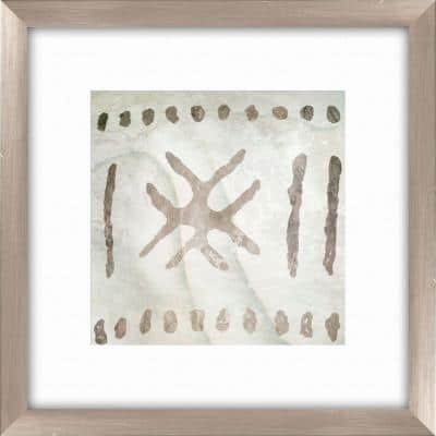"""20-1/2 in. x 20-1/2 in. """"Tribal Etched Lines D"""" Framed Wall Art"""