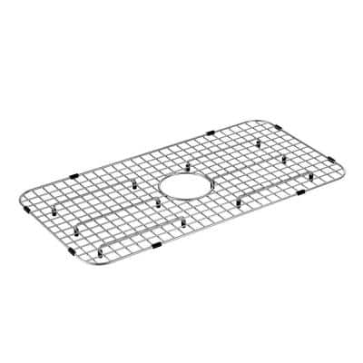27 in. X 13.75 in. Kitchen Sink Center Drain Bottom Grid