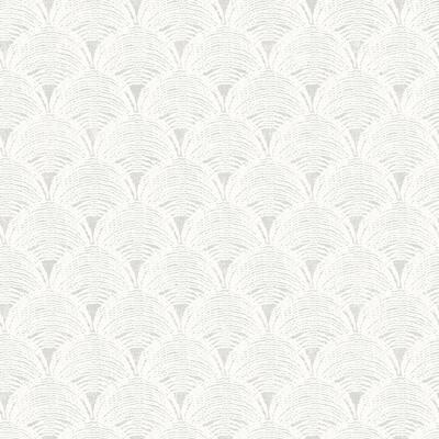 Santiago Grey Scalloped Grey Wallpaper Sample