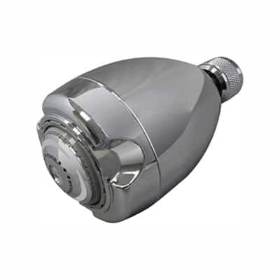 Earth 3-Spray 2.7 in. Single Wall Mount Fixed 1.25 GPM Shower Head in Chrome