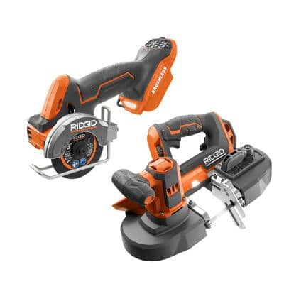 18V Cordless 2-Tool Combo Kit with SubCompact Brushless 3 in. Multi-Material Saw and Compact Band Saw (Tools Only)
