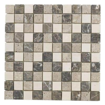 Emperador Mix 11.625 in. x 11.625 in. Square Honed Cream/Brown Marble Wall and Floor Mosaic Tile (0.938 sq. ft./Each)