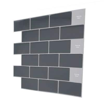 Thicker Version 12 in. x 12 in. 3D Subway Design Peel and Stick Removable Glossy Backsplash Tile (Set of 20-Piece)