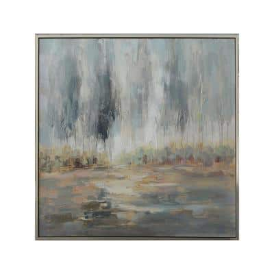 Baylee Framed Abstract Wall Art 50 in. x 1.5 in.