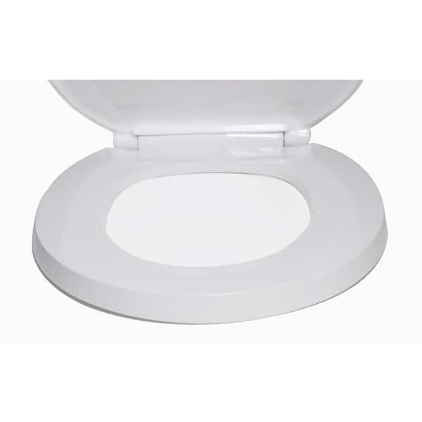 Centoco Elongated Closed Front With Cover Commercial Toilet Seat In White 800sts 001 The Home Depot