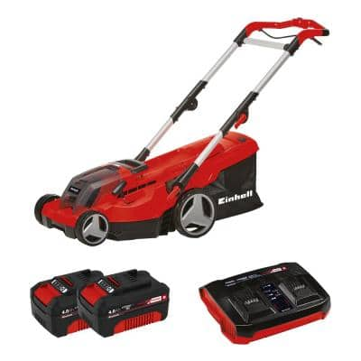 PXC 15 in. 36-Volt Cordless Walk Behind Push Lawn Mower Kit (w/ 2 x 4.0-Ah Battery + Dualport Fast Charger)