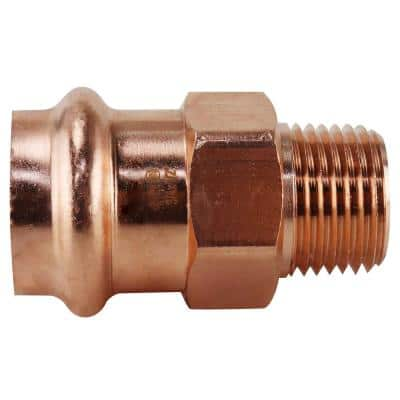 3/4 in. x 1/2 in. Copper Press x MPT Male Adapter