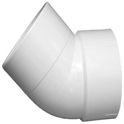 12 in. PVC DWV 45-Degree Hub x Spigot Street Elbow Fitting