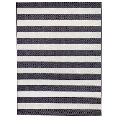 Nautical Stripes Navy 8 ft. x 10 ft. Indoor/Outdoor Area Rug